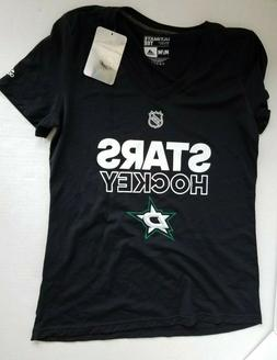 Adidas Women's Dallas Stars Hockey V-Neck Shirt Black