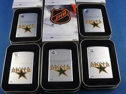 ZIPPO LIGHTER LOT 5 DALLAS STARS NHL HOCKEY NEW 2005 RETIRED